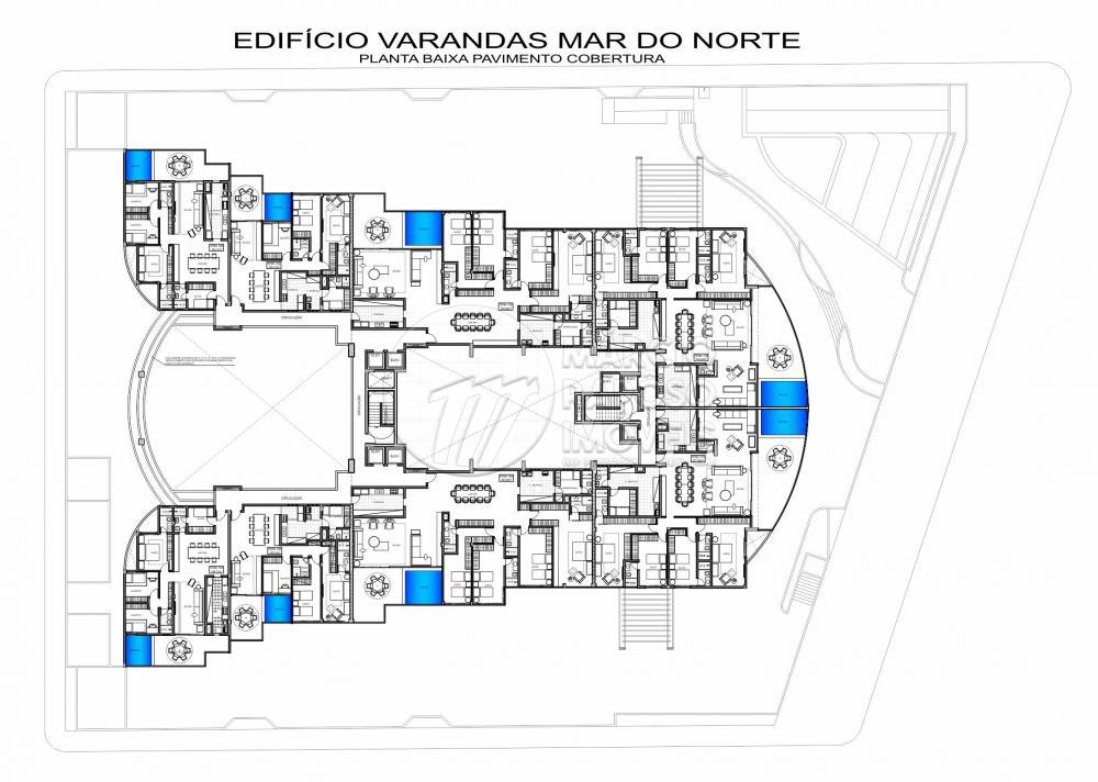 EDIFÍCIO VARANDAS MAR DO NORTE  * VALOR SUJEITO A ALTERAÇÃO. (PREÇO REF. AO APT. 106 E)  Apartamento de 144,11m² para Venda.  (todos os apartamentos com vista para o mar)  possui: - 3 quartos (3 suítes); - cozinha / serviço; - sala de estar; - sala de jantar; - DCE; - varanda.